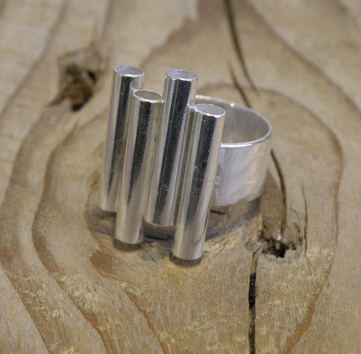 """Silver ring """"monument"""""""
