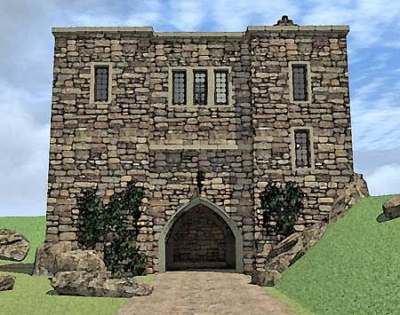 <3 <3 Plan W44109TD: Castle Home Plan With Elevator, absolute favorite set up, I would add and adapt some things.