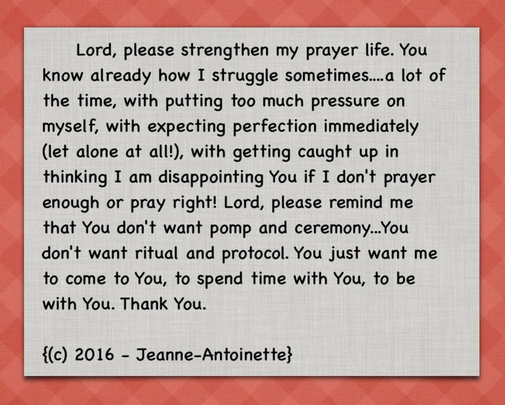 Prayer by Jeanne-Antoinette