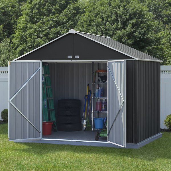 Ezee Shed 10 Ft W X 8 Ft D Metal Storage Shed Wood Shed Plans Metal Storage Sheds Building A Shed