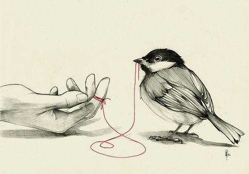 An Ancient Chinese proverb saysAn invisible red thread connects those destined to meet, despite the time, the place, and despite the circumstances.The thread can be tightened or tangle, but will never be broken.
