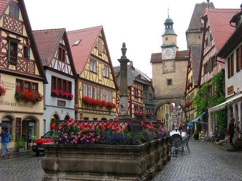 Rothenburg, Bavaria, Germany.  Go to www.YourTravelVideos.com or just click on photo for home videos and much more on sites like this.