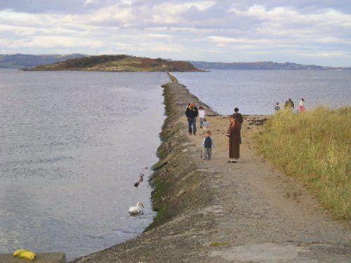 The causeway to Cramond Island in Edinburgh. Our tips for things to do in Edinburgh: http://www.europealacarte.co.uk/blog/2011/12/19/edinburgh-tips