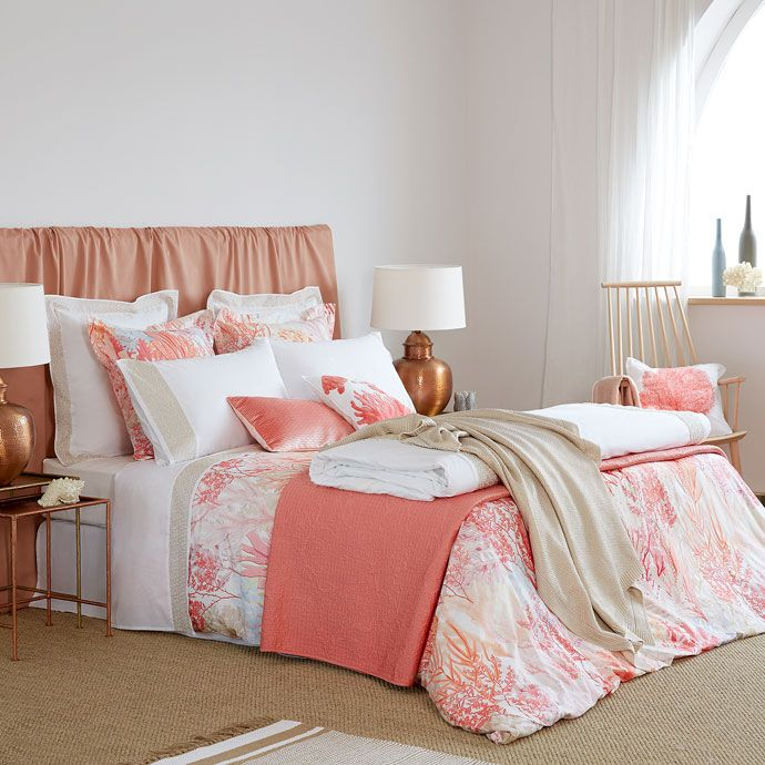 Multicoloured Coral Digital Print Bed Linen