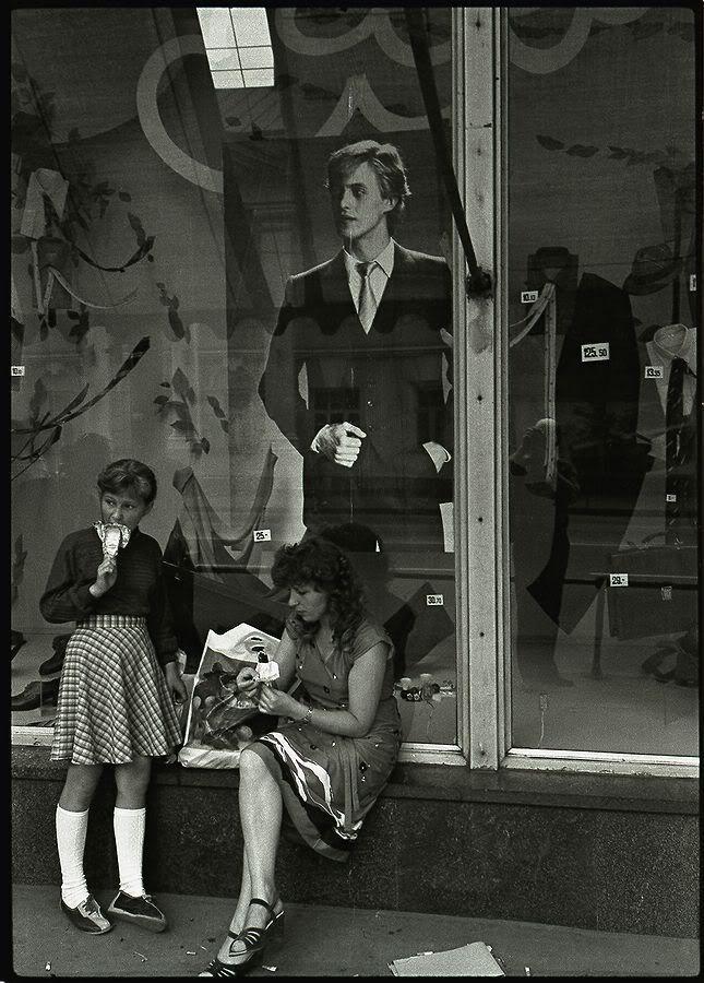 Летнее мороженое. Лето 1985. - Фотограф Александр Слюсарев