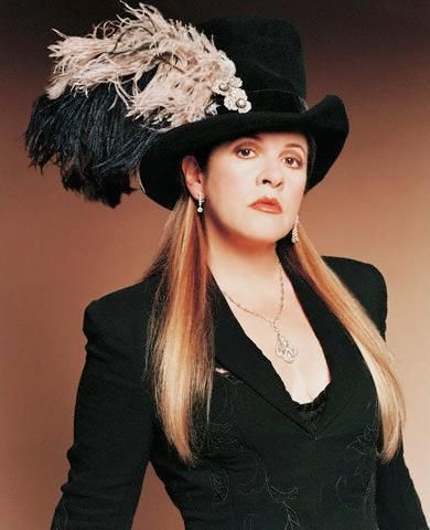 Lovely hat worn by Stevie Nicks, would love to recreate!