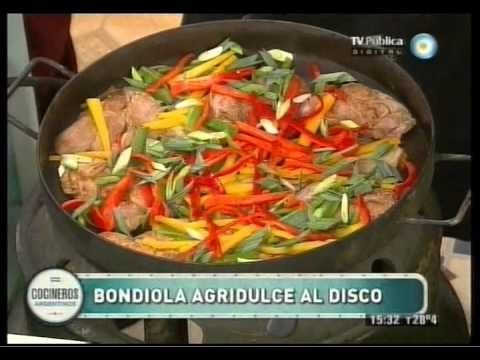 Bondiola agridulce al disco