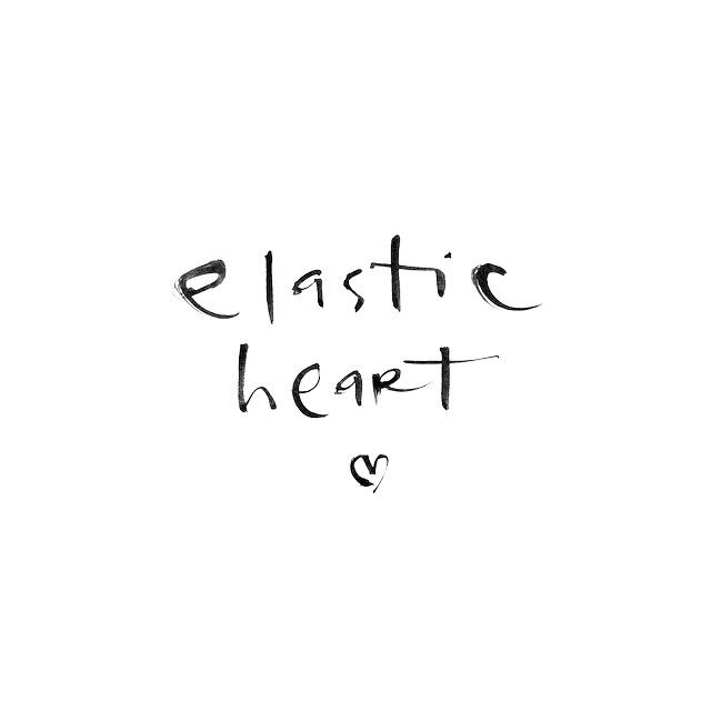 'I got thick skin and an elastic heart'. [Lovely lyrics as always by Sia] ✨