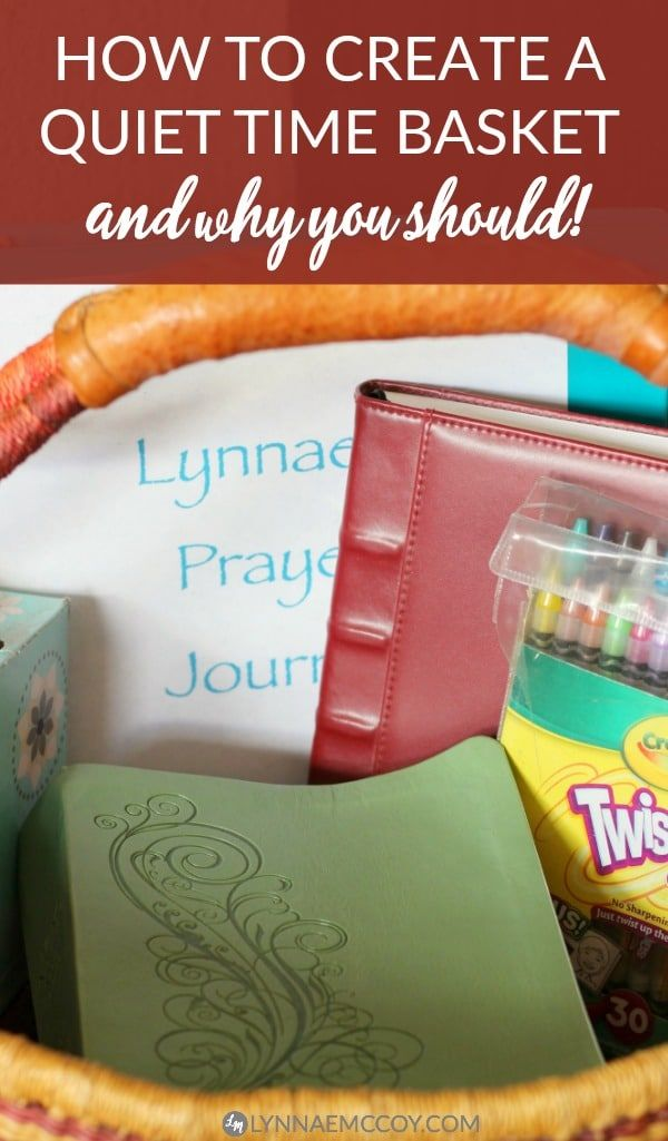 Do you have a quiet time basket? You should! via @Lynnae McCoy | Christian Women + Faith + Prayer + Blogging