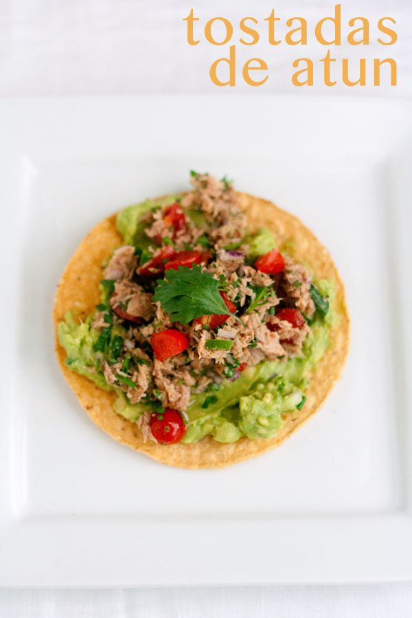 Tostadas de Atun (Tuna Tostadas), an UnRecipe Recipe via @Treathyl FOX [aka CMoneyspinner]