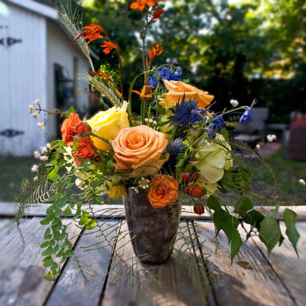 DIY Fall Flower Arrangement