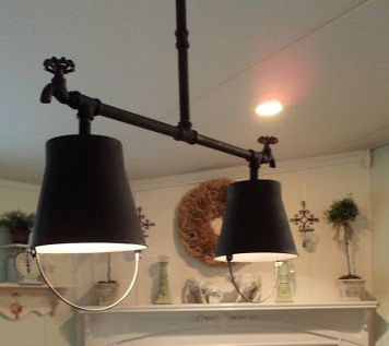 great country light fixture!  Spectacular Kitchen Remodel | Mobile & Manufactured Home Living