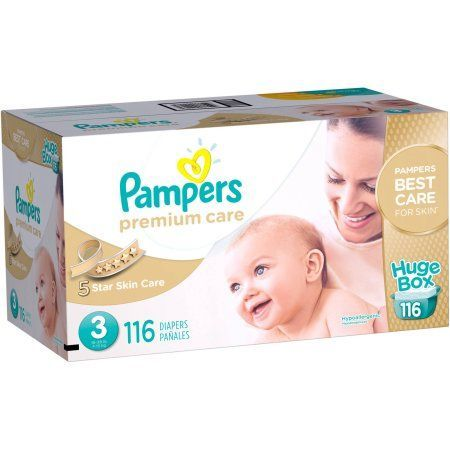 Pampers Premium Care Disposable Diapers, Size 3 (Choose Diaper Count)