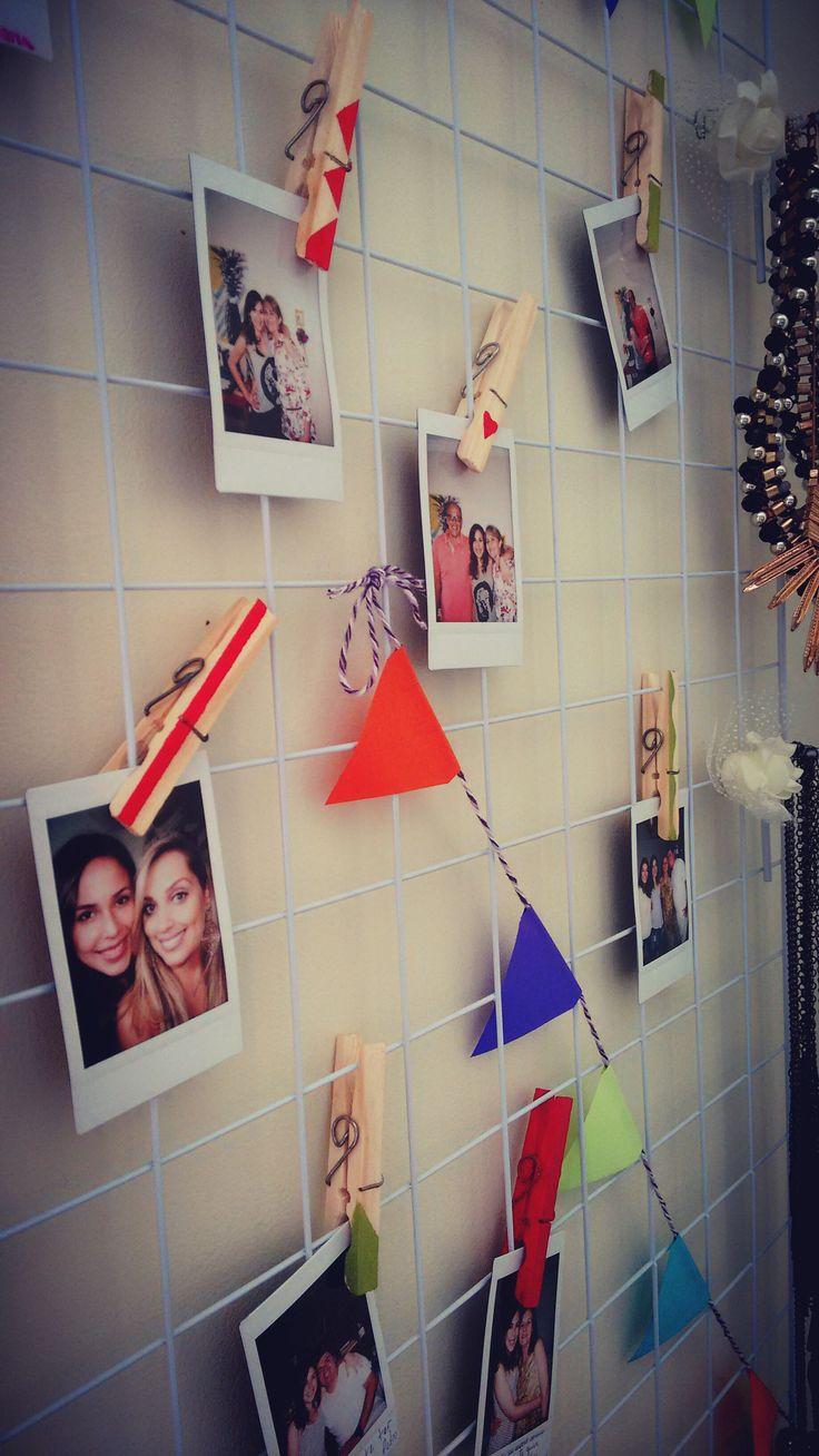 25 melhores ideias sobre varal de fotos no pinterest for Como fazer um mural de recados