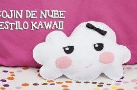 Nube cojin Kawaii. #Manualidades hechas de #Fieltro para niños.