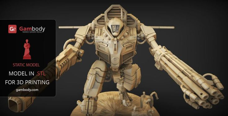TAU XV109 Y'Vahra 3D Printing Files - Hammer of War for 3D Mode for printing