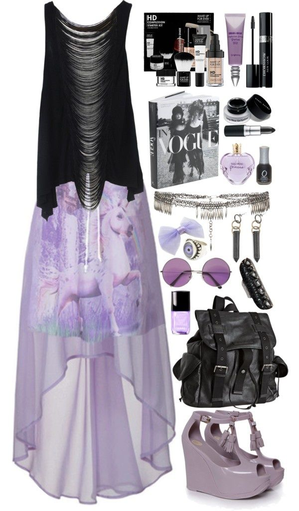 Pastel goth Creepy cute by sonaku ❤ liked on Polyvore