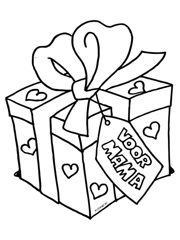 Kleurplaat Verjaardag Moeder Kleurplaat Cadeau Voor Mama Moederdag Kleurplaten Nl