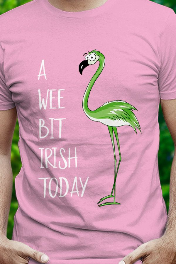Flamingo St Patrick Day T Shirt Funny Pink Bird Lover Gift