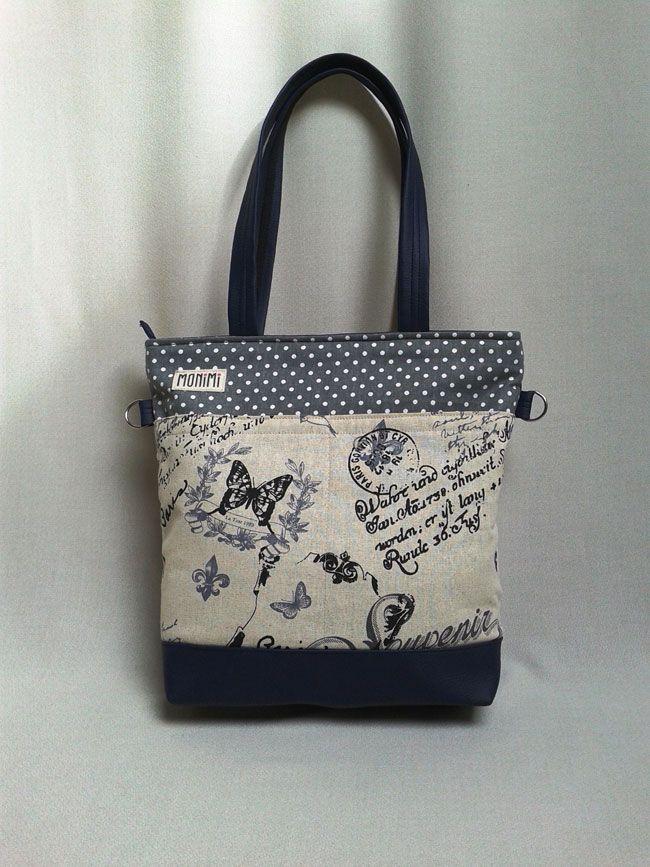 Designer vászon anyagból és textilbőrből készült ez a fiatalos, nagyméretű táska. Az elején nagy osztott zseb található. Young-bag 10 női táska