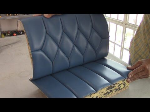 UPHOLSTERY BASICS - Blind Stiches on Diamond Figures-TUTORIAL - YouTube