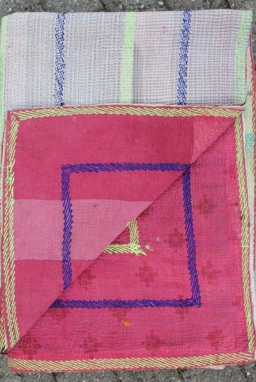 Plaider i bomuld, håndsyet af vintage indiske sarier - se de mange forskellige.
