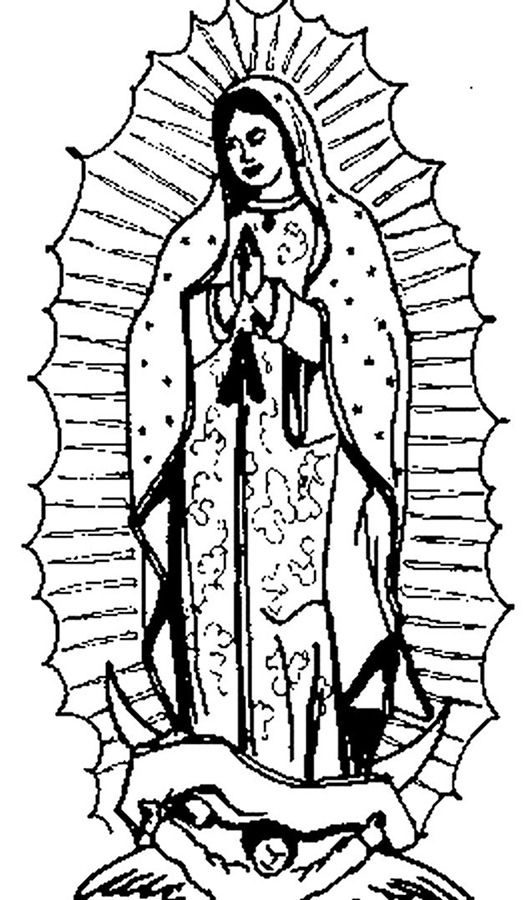 imagenes de la virgen maria para colorear 4 dibujos colorear net free coloringcoloring pagesangelsvirgin of guadalupedrawings