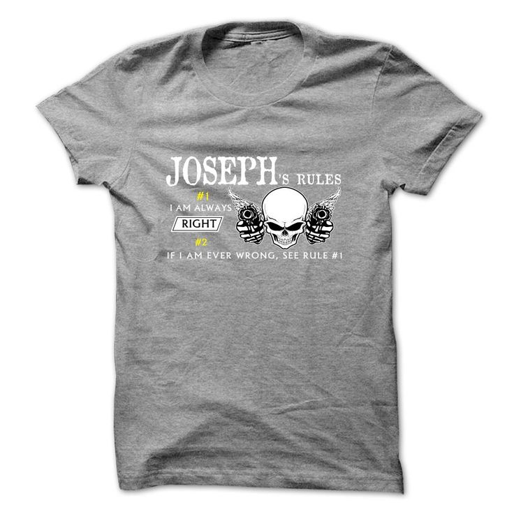 "JOSEPH - ᑎ‰ RulesIf you dont like this shirt, no problem, you can search another shirt at ""SEARCH BOX"" on the TOPJOSEPH"