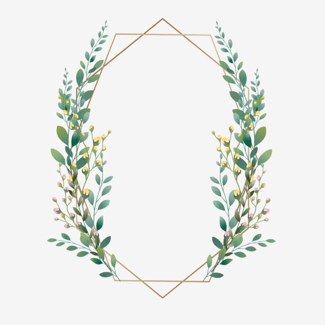 Beautiful Green Leaf Frame Design Wedding Wedding Card Png Transparent Clipart Image And Psd File For Free Download Floral Wreath Watercolor Flower Pattern Drawing Wreath Watercolor