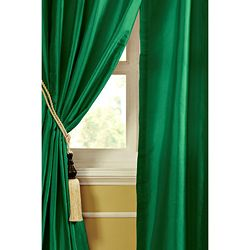 @Overstock.com - Mardi Dupioni Silk 96-inch Curtain Panel - In a lovely shade of green, this curtain panel will add a sleek and elegant look to any room. Made with heavy grade dupioni silk, this curtain panel also offers cotton backing.  http://www.overstock.com/Home-Garden/Mardi-Dupioni-Silk-96-inch-Curtain-Panel/6013968/product.html?CID=214117 $99.99