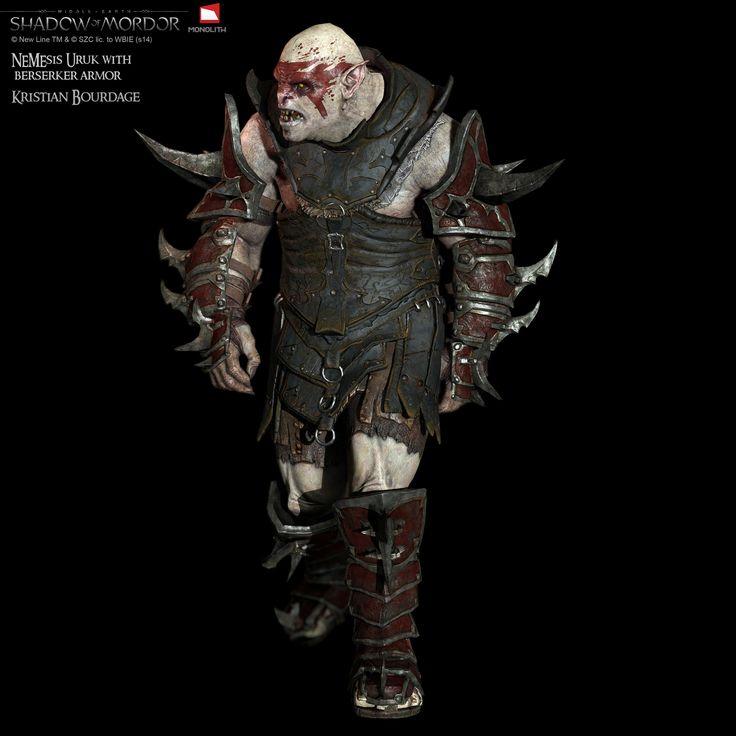 """ArtStation - """"Middle Earth Shadow of Mordor"""" Berzerker, Kristian Bourdage"""