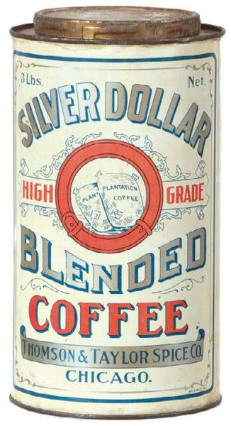 Silver Dollar Coffee Tin   Antique Advertising Value and Price Guide