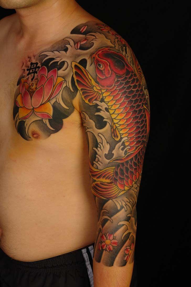 Japanese tattoos feb 27 frog tattoo on foot feb 25 japanese tattoo - Japanese Koi Fish Tattoo Sleeve Google Search