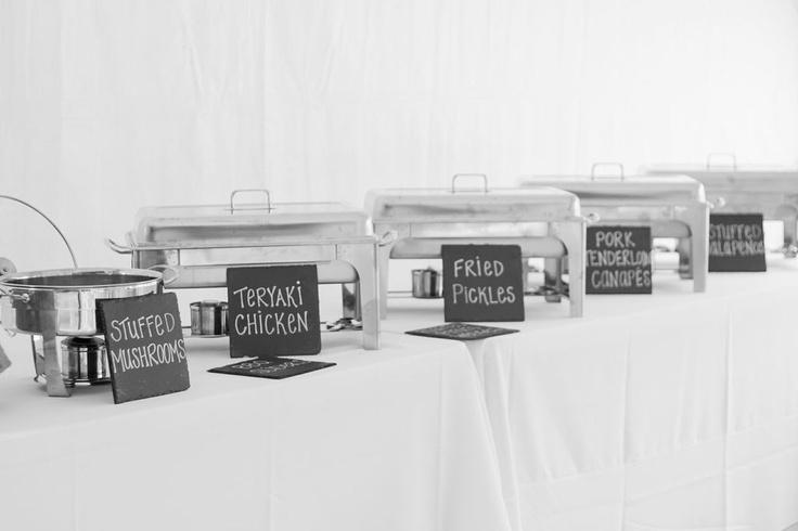 Buffet Signs.  Event Planner: Emily's Events, LLC (Orlando, FL) Photographer:  East Coast