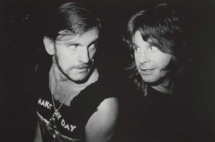 Lemmy Kilmister and Ozzy Osbourne | Rare and beautiful celebrity photos