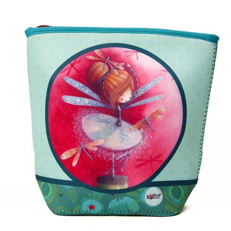 Un sac aussi mignon & coloré que pratique // Sac à Collations Erika KETTO Snack Bag Erika // Néoprène. Fermeture éclair. Lavable à la machine. // Neoprene. Zipper closure. Machine washable. // #SacÀCollation #Snackbag #Ketto