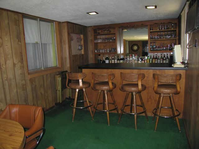 Wood Paneling Decor Is A Really Fun Room: The Bar/ Lounge!