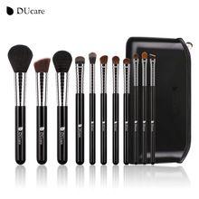 DUcare Nuevo Pincel de Maquillaje Profesional Set 11 unids Bolsa de Maquillaje Kit de Herramientas con Parte Superior de Cuero de Alta Calidad de Cobre Virola(China (Mainland))