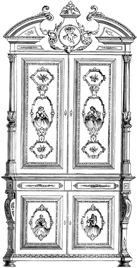 Cabinet | ClipArt ETC | Cabinet, Color pencil art, Clip art