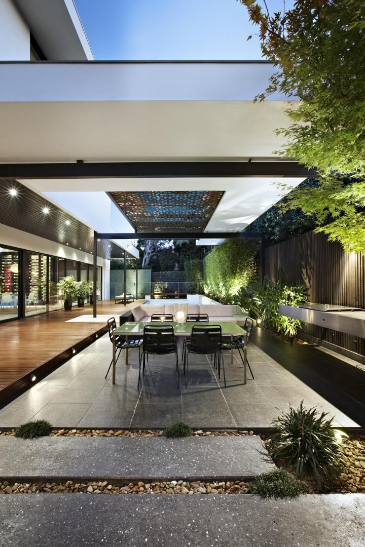 Relaxing Outdoor Space of a House on Balaclava Road, Australia