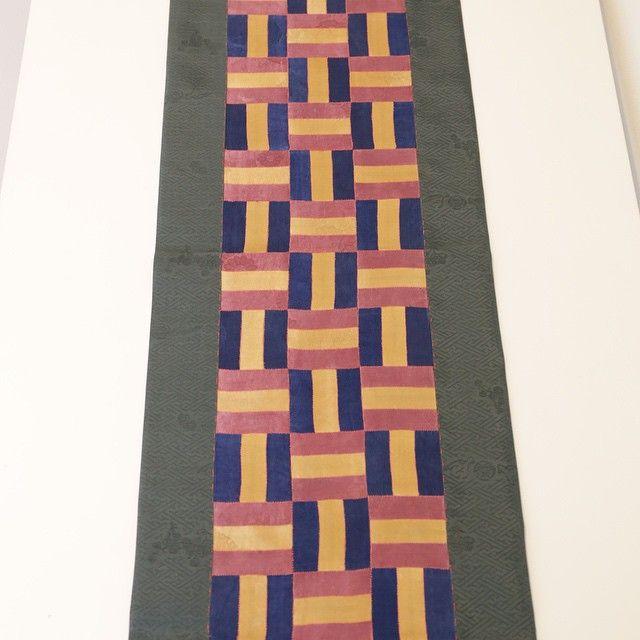 천연염색 테이블 러너 #조각보 #규방공예 #한복 #바느질풍경