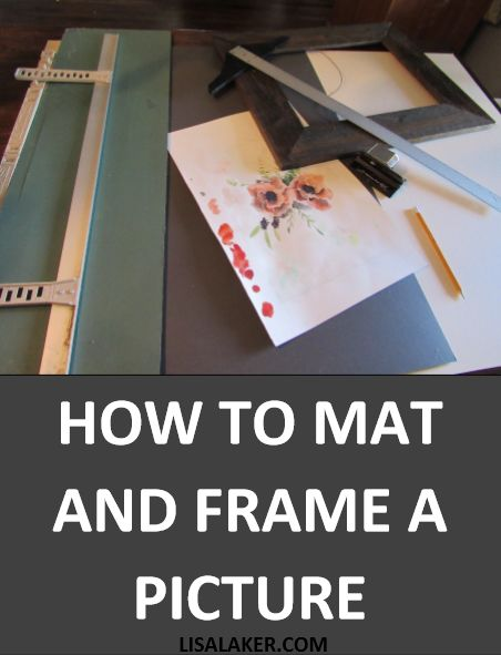 Having art professionally framed can be expensive. Mat and frame you pictures yourself for a fraction of the cost!