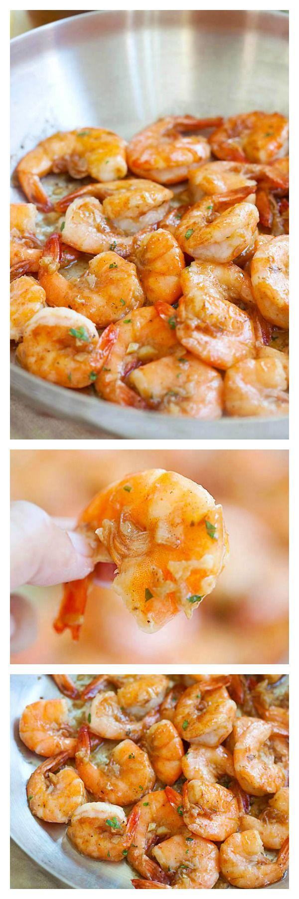 Hawaiian shrimp scampi (garlic butter shrimp) made famous by Giovanni's shrimp truck.
