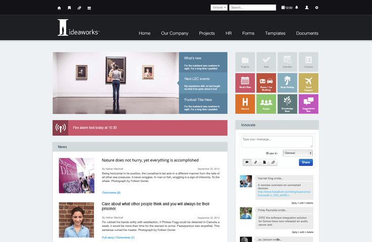Ideaworks Intranet Design