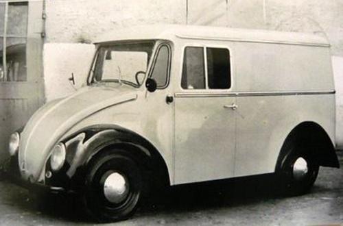VW Type 147 Kleinlieferwagen (small van) prototype. In the early 60s, the German Postal Service ...
