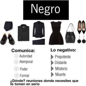 La elegancia del color negro, descubre que más denota este color... http://www.1001consejos.com/dime-que-colores-llevas-y-te-dire-quien-eres/