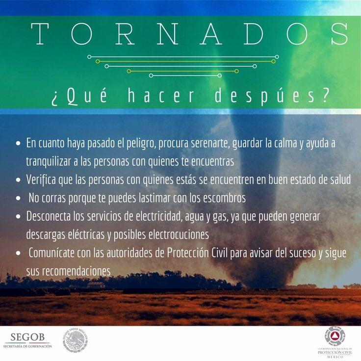 Tornados: ¿Que hacer después?