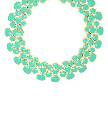 Look what I found on #zulily! Goldtone Teal My Neck Necklace #zulilyfinds