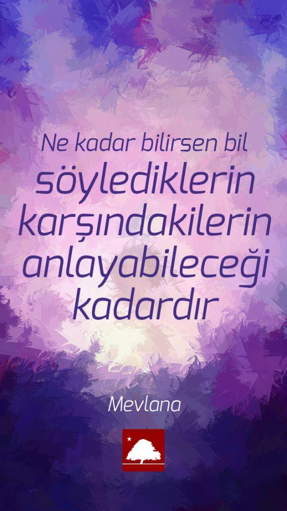 Mevlana : Ne kadar bilirsen bil, söylediklerin karşındakilerin anlayabileceği kadardır. Anadolu Çınarları poster