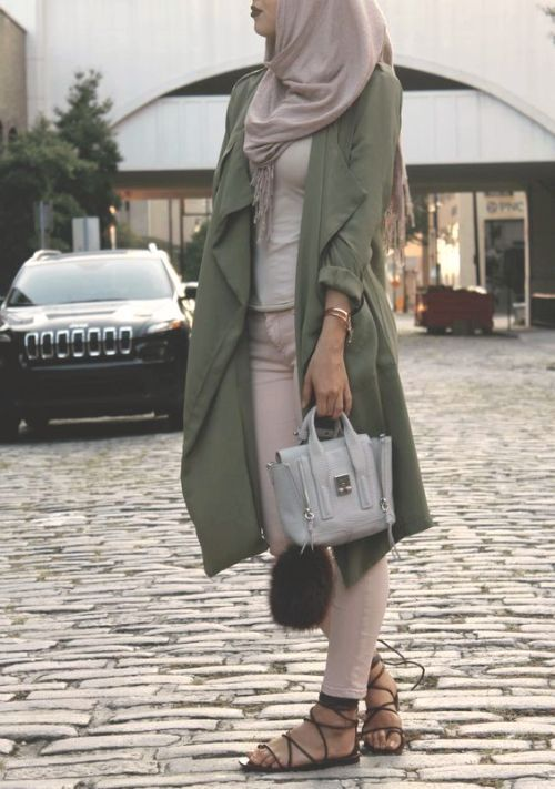 olive waterfall cardigan-Modest Summer Fashion Trends You Need to Follow – Just Trendy Girls